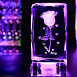 cristal 1pc rose décoratifs articles d'ameublement cadeaux sur cadeaux jour les lumières de valentine de lampe LED