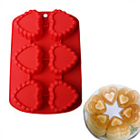 6 SquaresChocolate Heart-shaped Cake Mold Silicone Mold