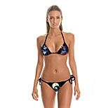 FuLang    Bikinis Set   Beach swimsuit    fashion    personality   sexy  backless   chaiacter 3D zombie    SC042