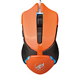 War Wolf 6D Wired Gaming Mouse 2400dpi for LOL/CF/DOTA Brown/Orange