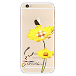 Etui Avant et Arrière corps Transparent Fleur TPU DouxApple iPhone 6s Plus/6 Plus / iPhone 6s/6