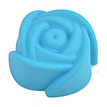 Random Color 1PC Rose Flower Shape Silicone Mold for Jelly, Chocolate, Soap Cake Decorating DIY Kitchenware ,Bakeware