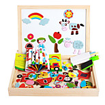 The New Magnetic Dpell Dpell Joy, Vhildren's Eooden Jigsaw Puzzle, Baby Educational Learning Toys-The Urban Traffic