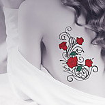 Fashion Large Temporary Tattoos Rose Sexy Body Art Waterproof Tattoo Stickers 2PCS  (Size: 5.71'' by 8.27'')