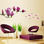 DIY Fashion Magnolia Flower Wall Decor Bedroom Drawing Room PVC Wall Stickers