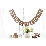 Fall In Love Wedding Engagement Bunting Sign Hanging Banner Garland