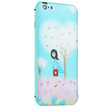 Bag Girl Pattern Metal Frame PC painted  Hard Case for iPhone6/6s/6 Plus/6s Plus