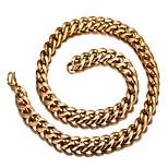 Муж. Женский Ожерелья-бархатки Титановая сталь 18K золото Мода европейский По заказу покупателя Бижутерия Назначение Повседневные