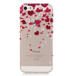 TPU High Purity Translucent Openwork Love Pattern Soft Phone Case for iPhone 5/5S/ SE