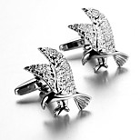 Men's Fashion Eagle Style Silver Alloy French Shirt Cufflinks (1-Pair)