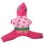 Dog Jumpsuit / Jumpsuit  A variety of colors / Winter  Floral / Hearts Fashion