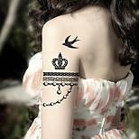 Fashion Temporary Tattoos Jewelry Sexy Body Art Waterproof Tattoo Stickers 5PCS  (Size: 3.74'' by 6.69'')