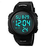Montre de sport Hommes / Femme / Unisexe LCD / Calendrier / Chronographe / Etanche / Double Fuseaux Horaires / Noctilucent / Chronomètre