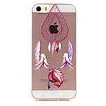 Pink Pattern campanula di cassa del telefono materiale di TPU elevata permeabilità per iPhone SE / 5s / 5