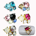 5pcs  Candy-Colored Nail Alloy Diamond Decoration