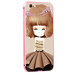 Clove Girl Pattern Metal Frame PC painted  Hard Case for iPhone6/6s/6 Plus/6s Plus