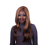 Europe And The United States The New Golden Brown Side Natural Straight Wig 28 Inch