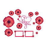 Wall Stickers Wall Decals Style Stereo Flower Photo Frame PVC Wall Stickers