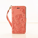 PU Leather Material Dandelion Pattern Painted Embossed Phone Case for iPhone 6s Plus / 6 Plus/6S/6