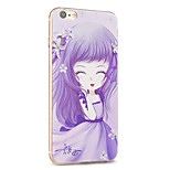 Kakashi Flower Princess Series TPU Painting Soft Case for iPhone 6s / 6 /6s Plus / 6 Plus(Shamrock)