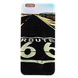 TPU Material + IMD Crafts Perfect Fit Highway Pattern Cellphone Case for iPhone 6/6S/6 Plus/6S Plus