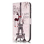 PU Leather Embossed Eiffel Tower Wallet Case with 9 Card Slots for iPhone 6s 6 Plus