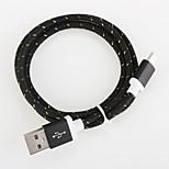 USB 2.0 Braided Aluminum Cables 100cm