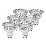 IENON® 6 pcs  5W GU10 LED Spotlight MR16 1 COB 400-450 lm Warm White / Cool White Decorative AC 100-240 V