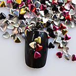 1 Pack Include 5 Mixed Colors Nail Art Heart Shape Glitter Riveting DIY Nail Art Decoration NC218