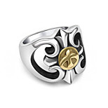 Takahashi Goro Point Golden Eagle Men'S Titanium Steel Ring