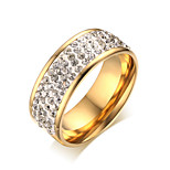 Ms Full Drill 18K Gold Ring
