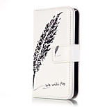 PU Leather Embossed Black Feather Wallet Case with 9 Card Slots for iPhone SE 5s 5