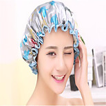 Colorful Printed Soft Satin Fabric Shower Caps Waterproof Spa Bath Elastic Hat Cap  Household For Women