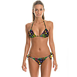 FuLang    Bikinis Set   Beach Swimsuit    Fashion    Personality   Sexy  Backless  Maple Leaf  Digital    SC051