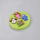 Cake Tools Children Pet Snowman Christmas Silicone Mold for Cake Decorating Cupcake Candy Chocolate Soap Clay Fimo Resin