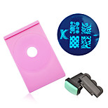 Nail Art Stamping Image Plate Holder Stamper Scraper Set Polish Printing Stencil Template Manicure Nail Tools