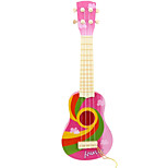 Plastic Pink Simulation Child Guitar for Children Above 8 Musical Instruments Toy Random Delivery