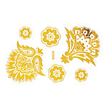 Tattoo Stickers Airbrush Tattoo Stencils Women / Adult Gold Paper 1 15*12*0.3