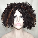 Europe And The United States Sell Black Polyester Dye Small Volume Wigs12 Inch