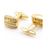 Men's Fashion Sparkle Gold Alloy French Shirt Cufflinks (1-Pair)