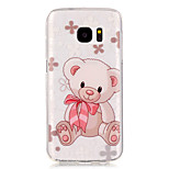 Bear Pattern High Permeability TPU Material Phone Case for Samsung S5/S6/S7/S6 edge/S7 edge