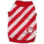 Gatti / Cani T-shirt / Abiti / Abbigliamento Rosso / Blu Estate / Primavera/Autunno Floral / botanico Di tendenza-Pething®