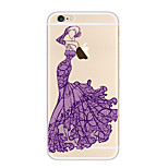 Kakashi Lace Printing TPU Painting Soft Case for iPhone 6s / 6 /6s Plus / 6 Plus(Lace Dressing)