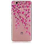 Plum Flower Pattern TPU Material Phone Case for Huawei P9/P9 Lite