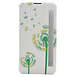 Dandelion Painted Voltage Holster PU Material Clamshell Phone Cover for LG G5/K10