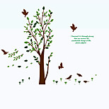 Green Tree Birds Sofa Background Wall Stickers Environmental DIY Living Room Wall Decals
