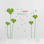 Wall Stickers Wall Decals Style Green Leaves Love Tree PVC Wall Stickers