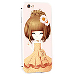 Daisy Girl Pattern Metal Frame PC painted  Hard Case for iPhone6/6s/6 Plus/6s Plus
