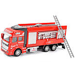 Dibang - Children's toy car fire truck 1:48 back to force alloy car models puzzle toy water gun carriage (3PCS)