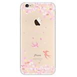 kakashi petite peinture série tpu frais étui flexible pour iphone 6s / 6 / 6s plus / 6 plus (avaler et fleurs)